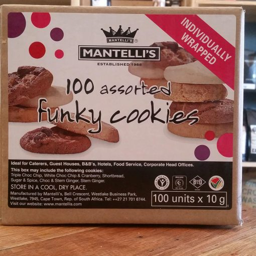 Mantelli's 100 Assorted Funky Cookies (100 x 10g)