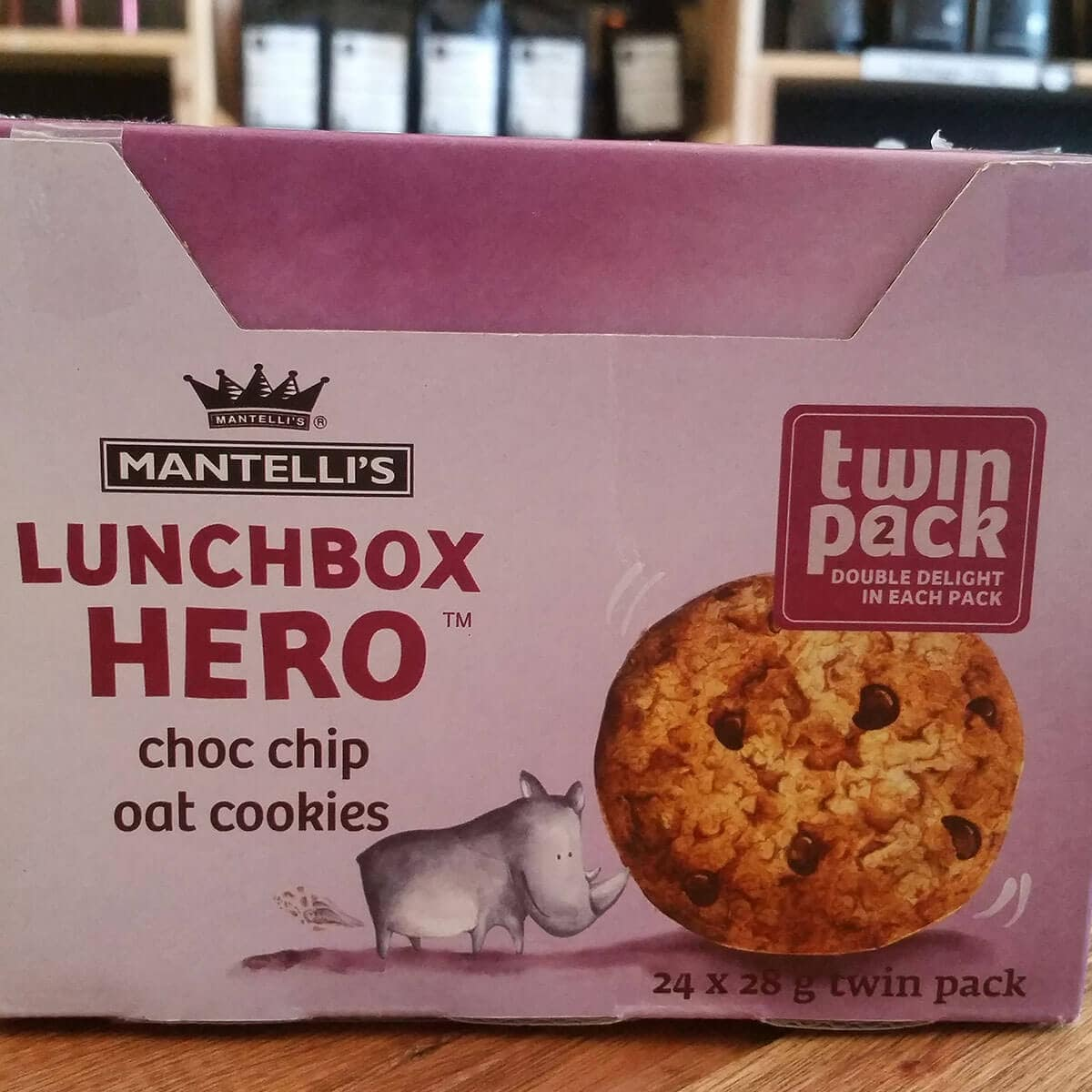 Mantelli's Lunch Box Hero Choc Chip Oat Cookies (24 x 28g)