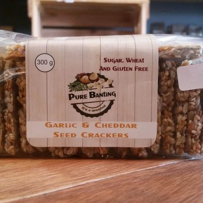 Pure Banting Garlic & Cheddar Seed Crackers (300g)