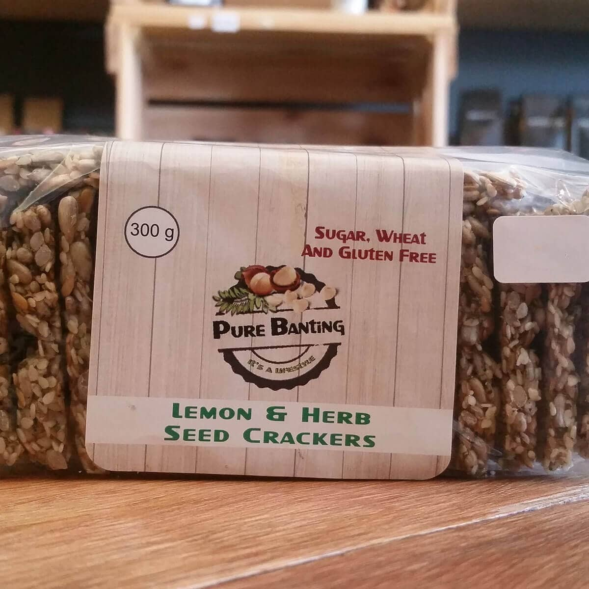 Pure Banting Lemon & Herb Seed Crackers (300g)