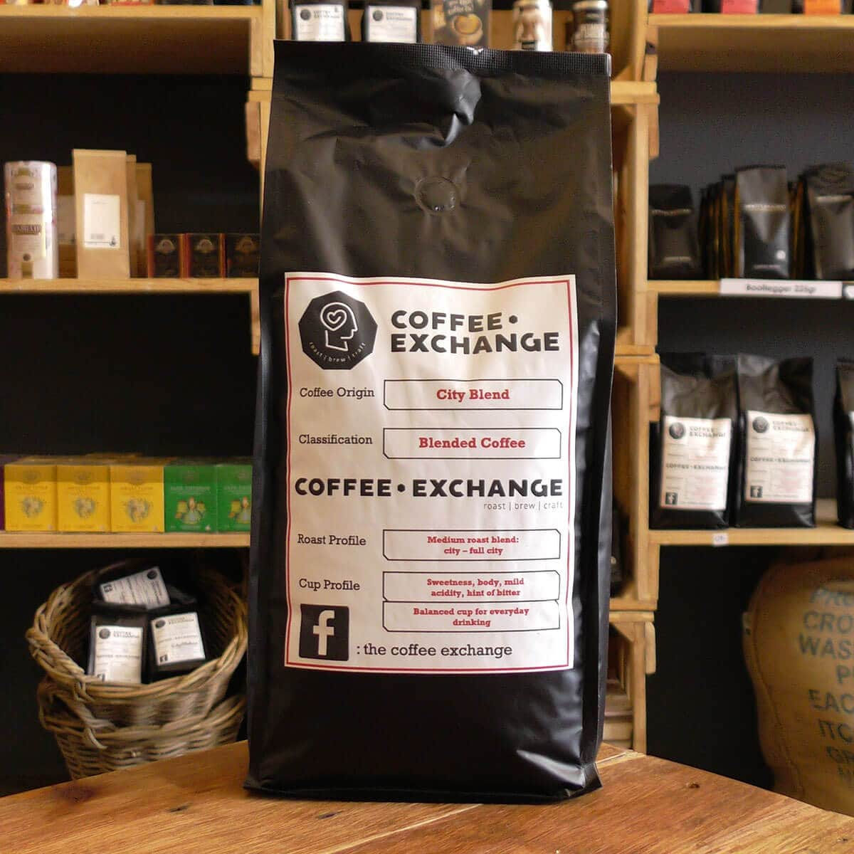 Coffee Exchange Beans - City Blend (1kg) - Coffee & Crunch