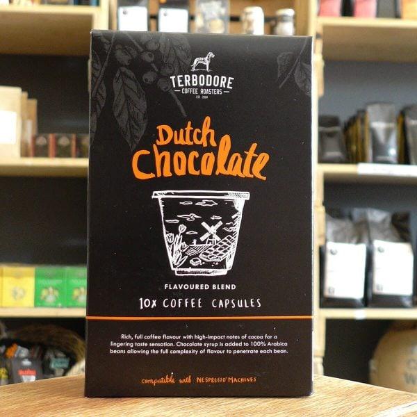 Terbodore Dutch Chocolate Flavoured Coffee Capsules (10 Capsules)